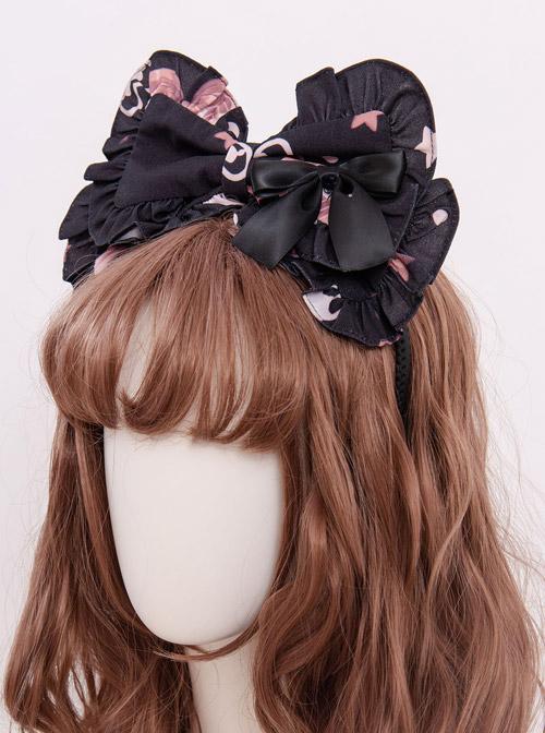 Magic Tea Party Chocolate Rabbit Series KC Bowknot Sweet Lolita Hair Hoop