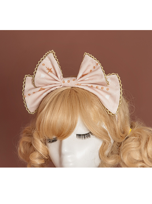 Gift Box Bear Series KC Printing Bowknot Sweet Lolita Head Hoop
