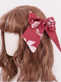 Magic Tea Party Chocolate Rabbit Series Two Colors Bowknot Sweet Lolita Hair Clips