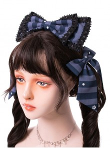 Magic Tea Party- Garden Restaurant Series Bowknot Sweet Lolita Hair Hoop And Hair Clips Set