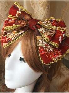 Heavenly Garden Series Printing Bowknot Sweet Lolita Head Hoop