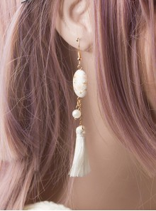 Cherry Blossom Hand-painted Ukiyo Series Tassel Japanese Style Lolita Earrings