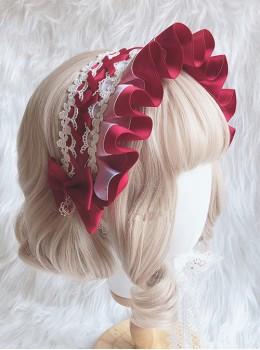 Ruffle White Lace Small Bonnet Sweet Lolita Headband