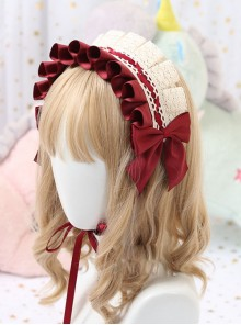 Multicolor Cotton Ruffle White Lace Sweet Lolita Headband