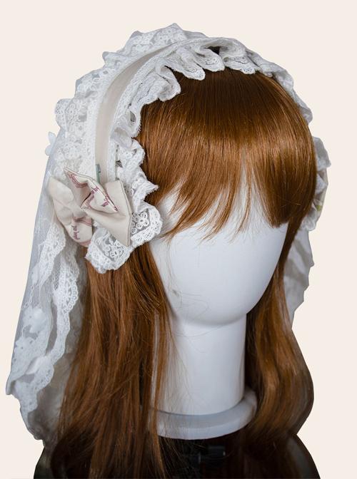 Magic Tea Party *Little Ada's Flowers* Series KC Retro Lace Sweet Lolita Hair Hoop