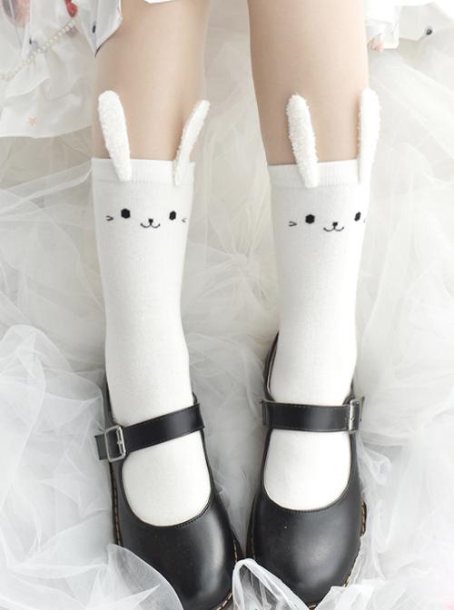 Stereoscopic Decoration Cute Rabbit Ears Sweet Lolita Socks