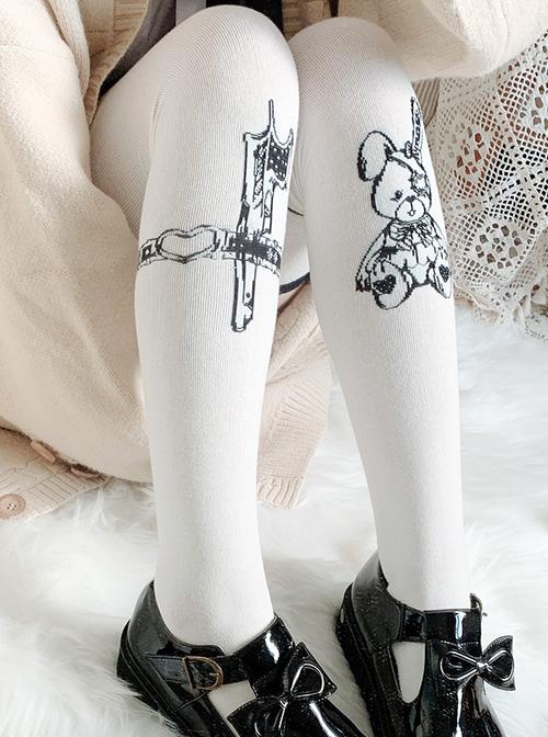 The Assassinate Rabbit Series Dark Sweet Lolita Stockings