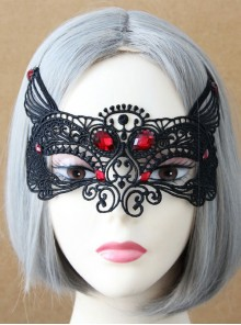 Black Lace Sexy Fox Princess Gothic Lolita Mask