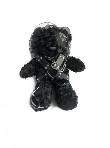 Hell Bear Series Black Plush Gothic Lolita Bag