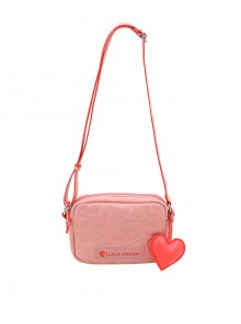 Cute Heart Pattern Soft PU Leather Square Shaped Sweet Lolita Shoulder Bag