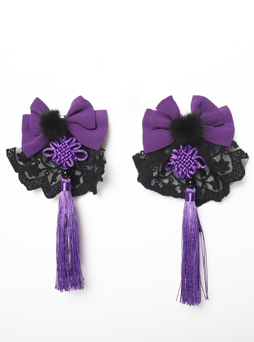 Magic Tea Party Swimming Fish Play Dream Series Chinese Style Lolita Bowknot Hair Clips