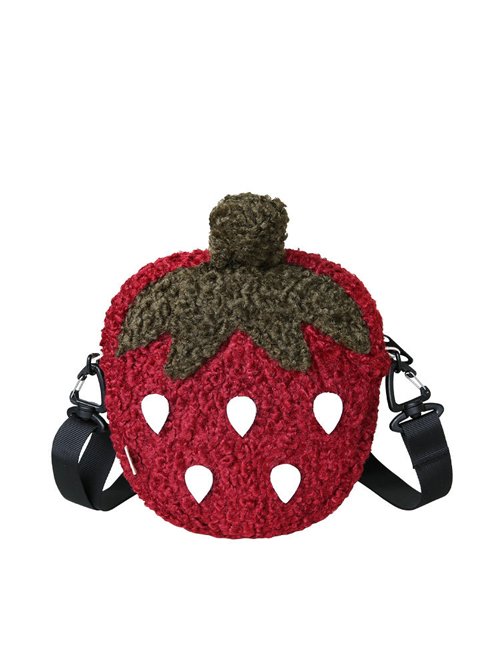 Strawberry Pie Shaped Sweet Lolita Dark Red Inclined Shoulder Bag