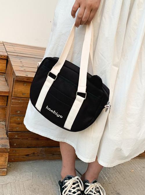 Cute Bear Ears Sweet Lolita Simplicity Canvas Portable Single Shoulder Messenger Bag
