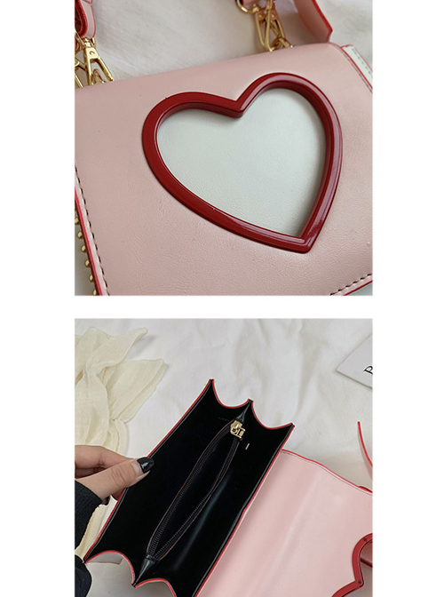 Cute Heart-Shaped Printing Shoulder Straps Sweet Lolita Shoulder Bag