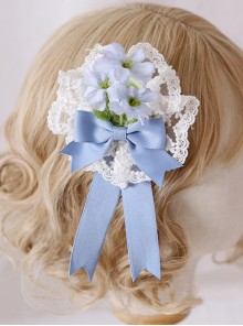 Multicolour Elegant Flowers Lace Brooch Sweet Lolita Hair Clip