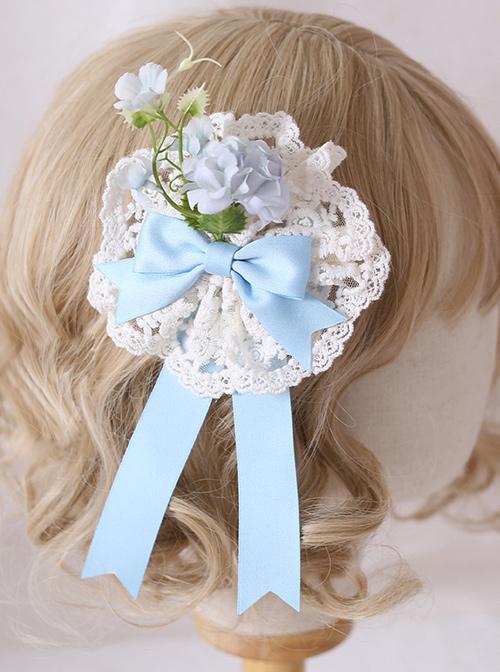Multicolour Elegant Flowers Lace Brooch Sweet Lolita Hair Clip