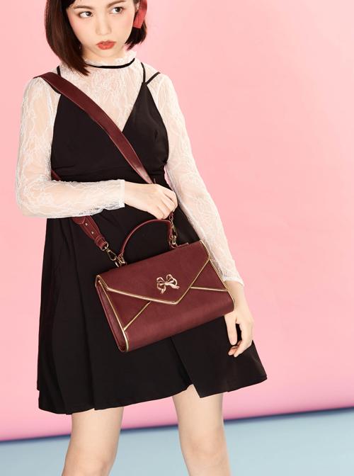 Vintage Love Letter Envelope Bag Classic Lolita Multicolor Shoulder Bag Handbag