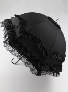 Capulet Dance Party Series Rose Lace Classic Lolita Long Umbrella