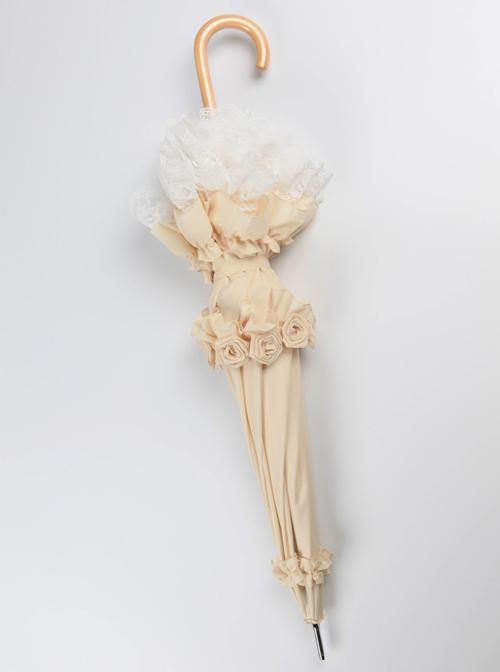 Capulet Dance Party Series Rose Lace Classic Lolita Long Umbrella