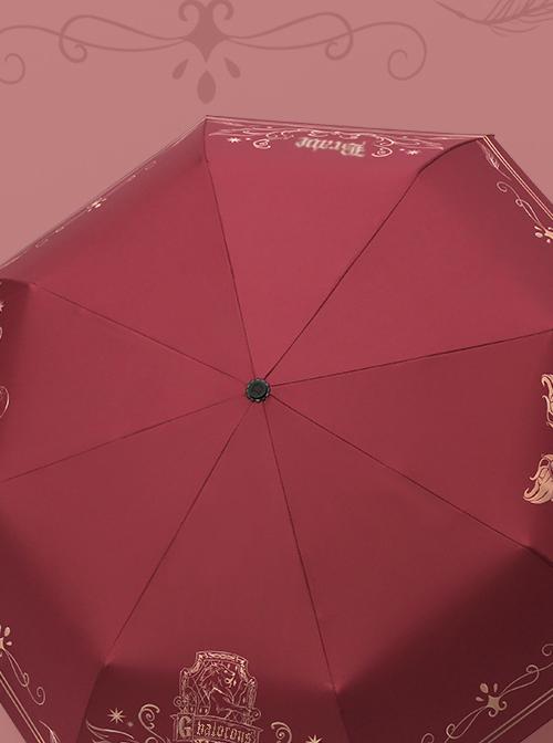 Harry Potter Theme Printing Gryffindor Or Slytherin Classic Lolita Folding Umbrella