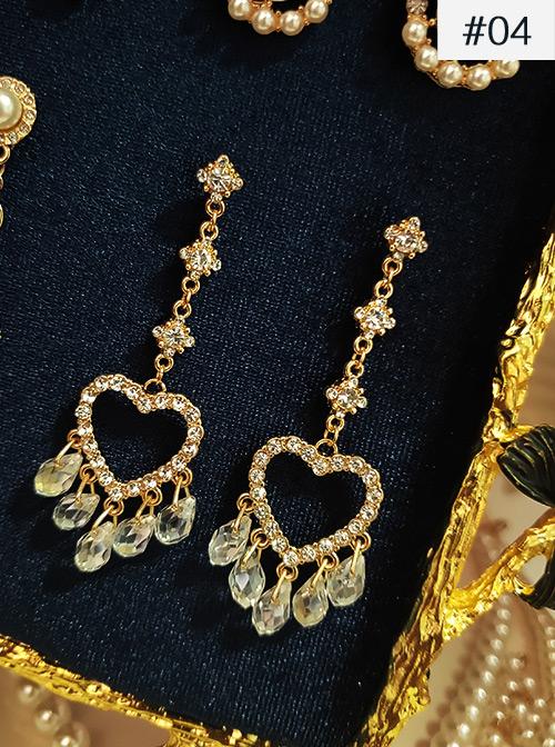Baroque Palace Retro Pearl Tassel Gorgeous Exquisite Designs Classic Lolita Earrings