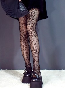 Darkness Harajuku Spider-web Gothic Lolita Hollow Out Pantyhose