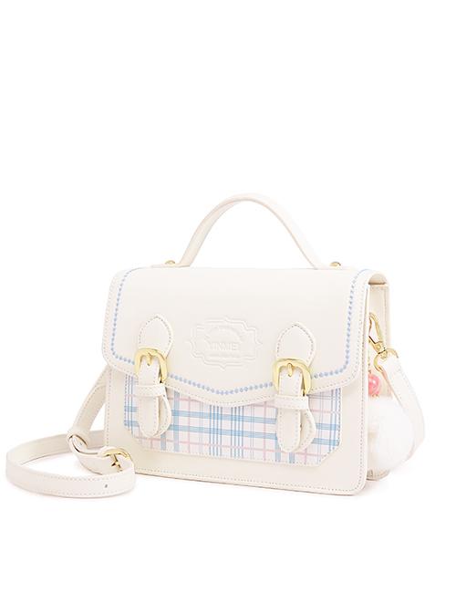 JK Uniform Shoulder Bag Plaid Printing School Lolita Cambridge Bag