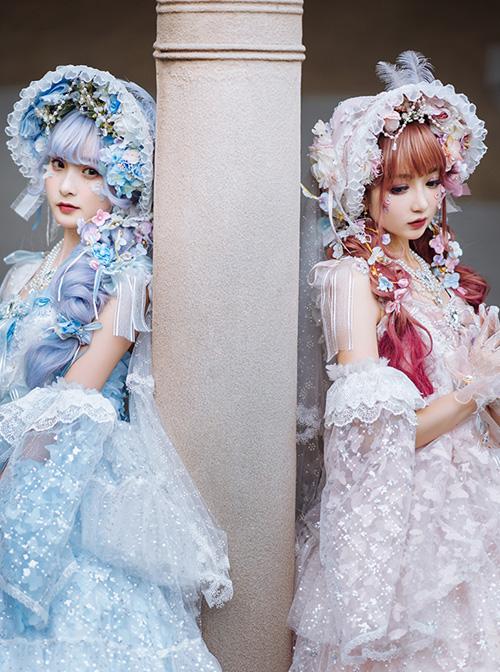 Cherry Blossom Girl Series Headwear Gorgeous Tea Party Classic Lolita Bonnet