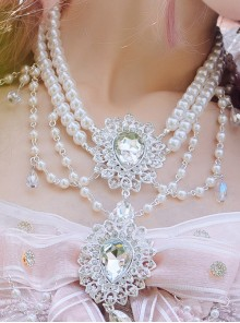 Cherry Blossom Girl Series Tea Party Classic Lolita Pearl Necklace