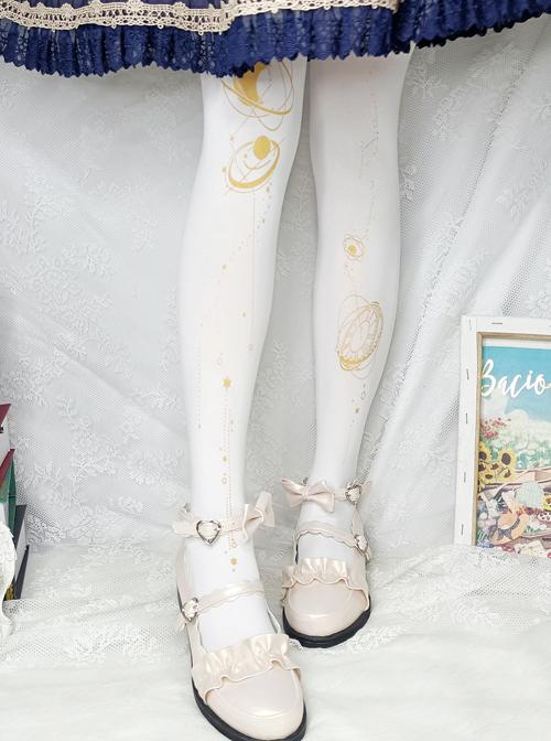 Walking Among The Stars Series Classic Lolita Spring Autumn Pantyhose