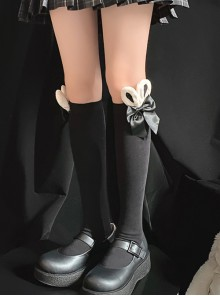 Rabbit Ears Bowknot Sweet Lolita Socks