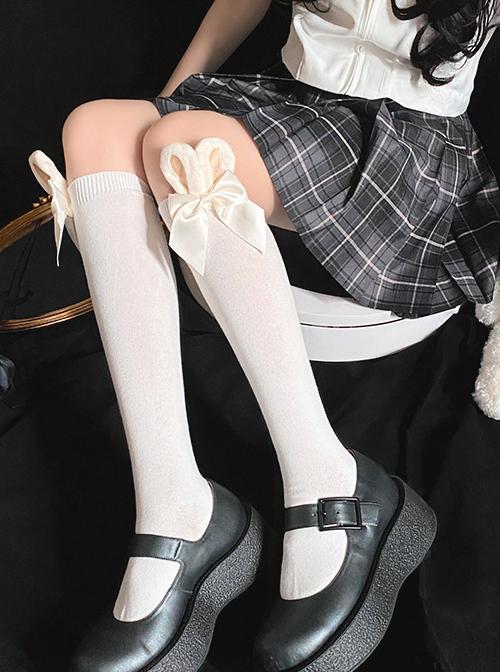 Rabbit Ears Bowknot Sweet Lolita Socks