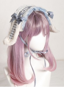 Multicolor Rabbit Ears Hairpin Alice Sweet Lolita Headband