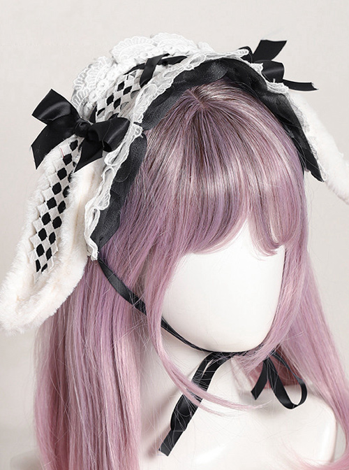 Multicolor Rabbit Ears Hairpin Alice Sweet Lolita Headband