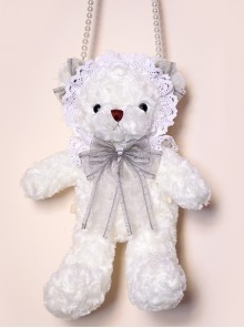 Angel Plush White Bear Doll Sweet Lolita Bag