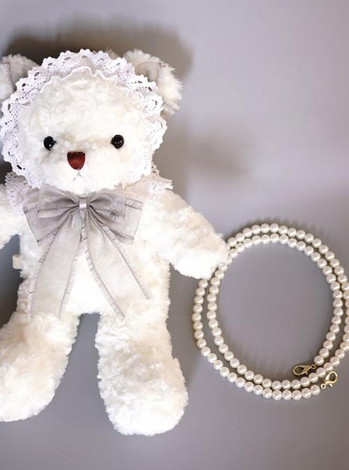 Angel Plush White Bear Doll Sweet Lolita Bag
