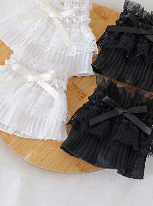 Bowknot Lace Simplicity Pure Color Sweet Lolita Hand Sleeves