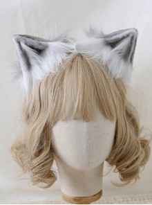 Cute Simulation Animal Ears Headband Plush Cat Ears Sweet Lolita Hair Hoop