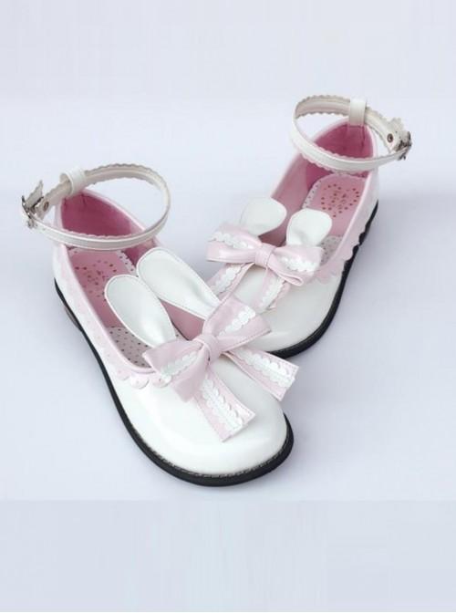 White Rabbit Ears Sweet Lolita Low-heeled Shoes