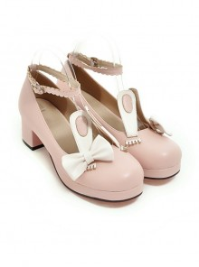 Rabbits Ears Bowknot Sweet Lolita High Heel Shoes