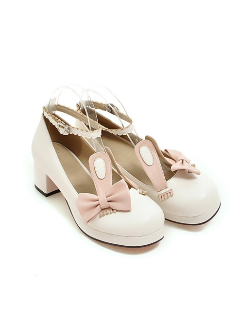 Rabbits Ears Bowknot Sweet Lolita High Heel Shoes