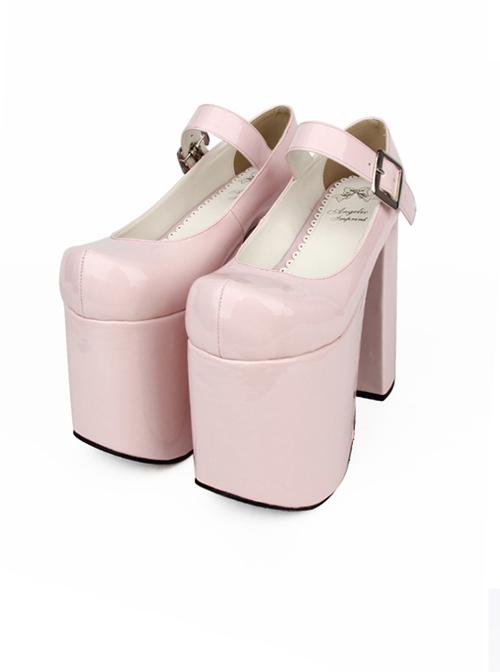 Gothic Queen Gothic Lolita Round-toe Super High Heel Shoes
