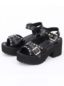 Punk Rivet Decoration Platform High Heel Sandals