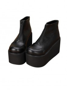 Thick Bottom Platform Punk Lolita Short Boots