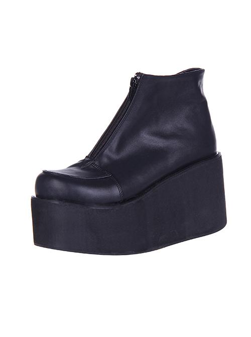 Thick Bottom Platform Punk Lolita Short Boots