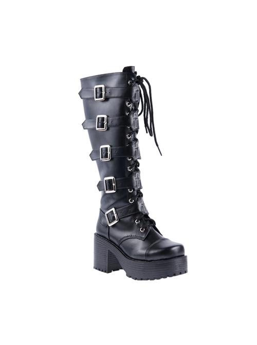 Harajuku Punk Cross Ornament Lolita High Boots