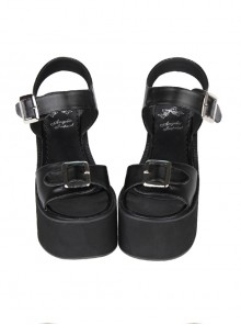 Black And White Sweet Lolita Platform Sandals