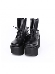 Punk Black Thick Bottom Platform Heel Lolita Boots