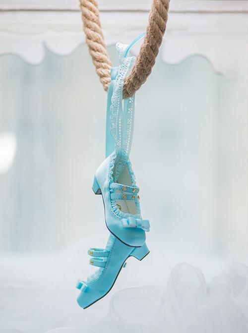 The 1/3 BJD's Simulation Silk Satin Surface Square-toe Shoes