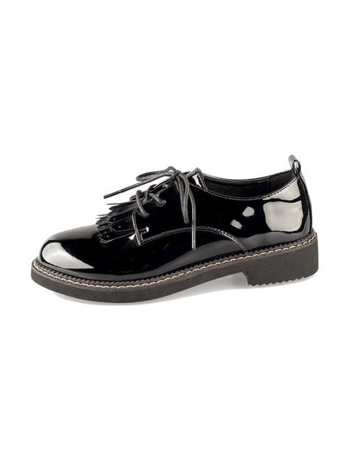 Black Patent Leather Retro British Style Lolita Shoes